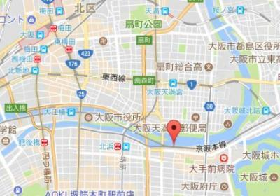 【地図】ジーニス大阪WEST棟