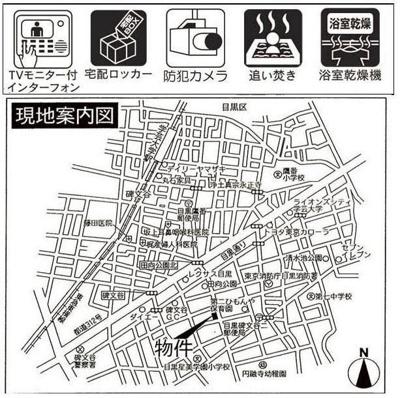 【地図】nel碑文谷
