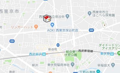 【地図】レオパレスキャピタル平松(34428-202)