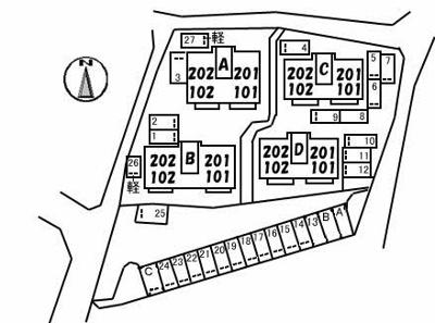 【区画図】シャーメゾン一の宮 B棟