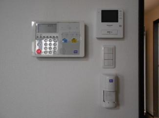 モニター付きインターホンでセキュリティー面も安心です。