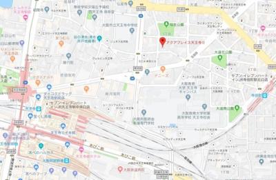 【地図】アクアプレイス天王寺Ⅱ