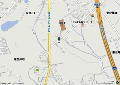 【地図】太田市東金井町売地
