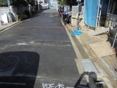 【前面道路含む現地写真】寝屋川市清水町 新築一戸建て