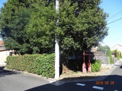 【前面道路含む現地写真】さいたま市緑区三室 南西角地に面する外壁総レンガ張り輸入住宅街並みの土地34坪