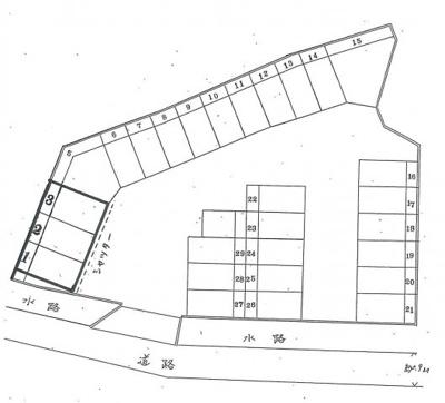 【区画図】久々知3丁目53-1シャッター付ガレージ 管理番号35