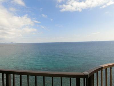 海際に建つリゾートマンション最上階、バルコニーから太平洋が一望できます