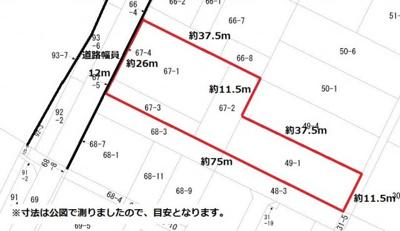 【区画図】拾六間貸地