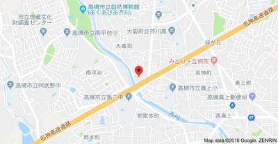 【地図】第9摂津グリーンハイツ 株式会社Roots