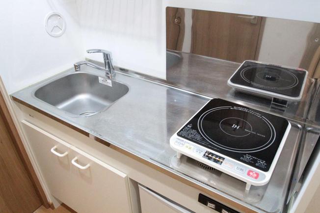 IHクッキングヒーター付きのキッチンです。