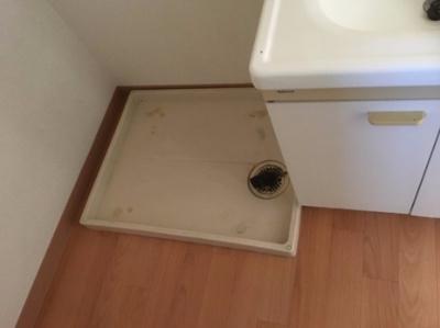 洗濯機室内置です