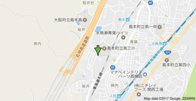 【地図】トリヴァンベール桜井