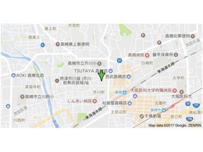 【地図】芥川マンション