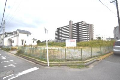 【外観】大型分譲地内・角地・建築条件なし売地