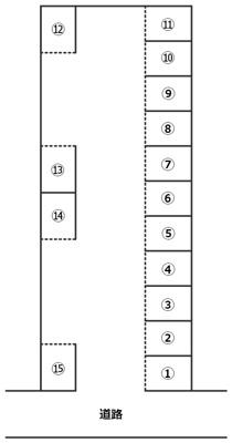 【区画図】花畑3丁目中野駐車場