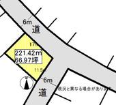 黒石市袋富田売地の画像