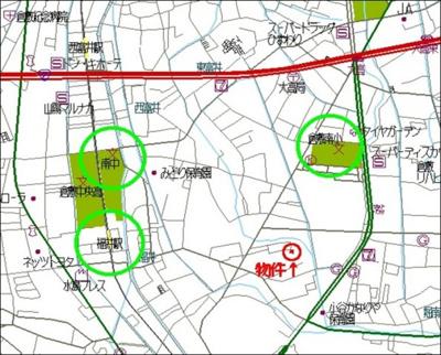 【地図】福井中古