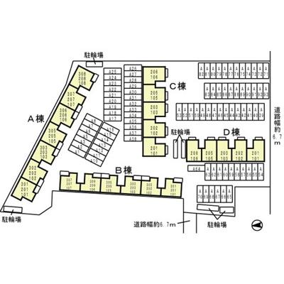 【区画図】ニューリバーサイド八尾南 B棟