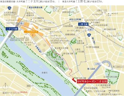 【地図】ロイヤルシーズン二子玉川