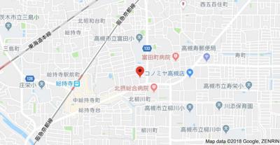 【地図】コーポ白梅 スモッティー阪急高槻
