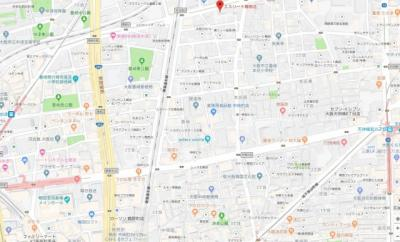 【地図】エスリード梅田北