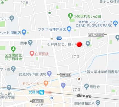 【地図】ビバリーホームズ石神井台