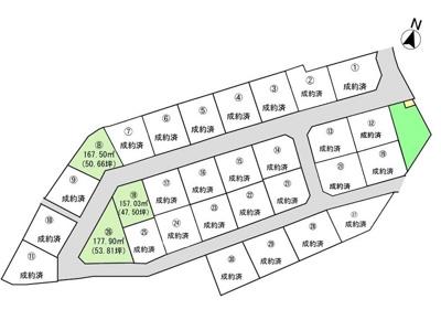 【区画図】土地 玉島乙島【上成小学校区】 全30区画