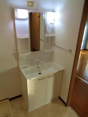 温水シャワー付き洗面化粧台