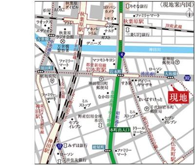 【地図】ロイジェント東神田