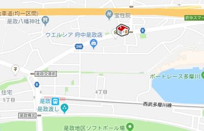 【地図】レオネクストカイトネストⅡ(51715-202)