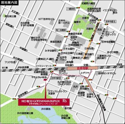 【地図】吉祥寺御殿山デュープレックスリズ
