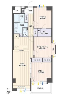 【洋室】仲介手数料無料■パークハイム東陽町 68.51㎡ 5階 リフォーム済