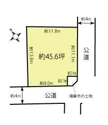 【土地図】鴻巣市三ツ木の売地