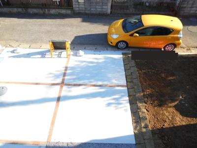 駐車場です。2099からさらに1899万円に価格変更。