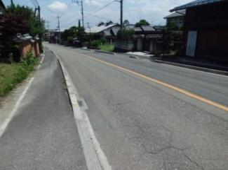 【前面道路含む現地写真】安中市松井田町新堀 売地
