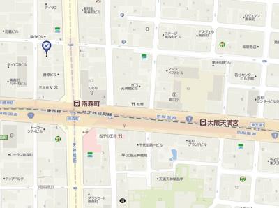 【地図】ファインフラッツ南森町