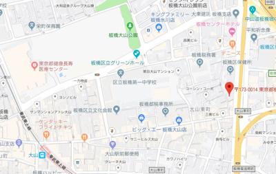 【地図】フェニックス板橋大山