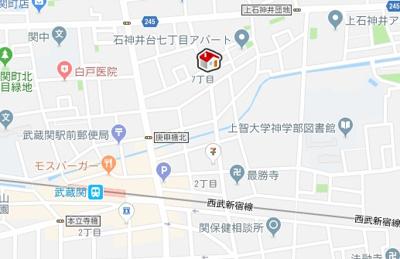 【地図】レオネクスト小関2(52409-101)