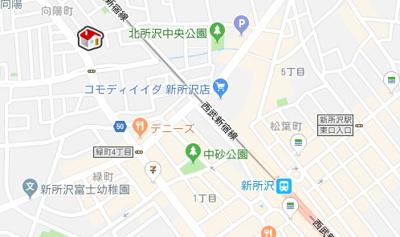 【地図】レオパレスベンデュール(44325-102)