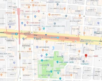 【地図】エスリード南森町駅前