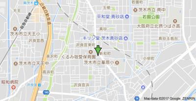 【地図】トータス茨木