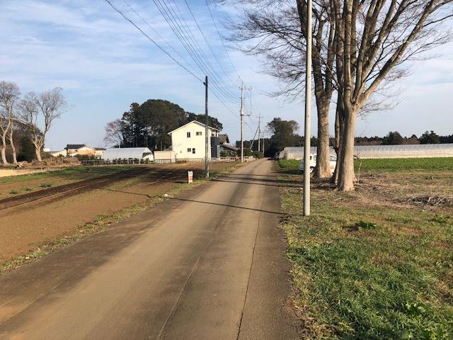 【前面道路含む現地写真】鉾田市舟木土地