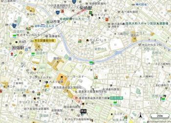 【地図】フルール狛江