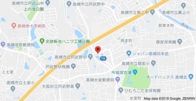 【地図】ラークハイツ