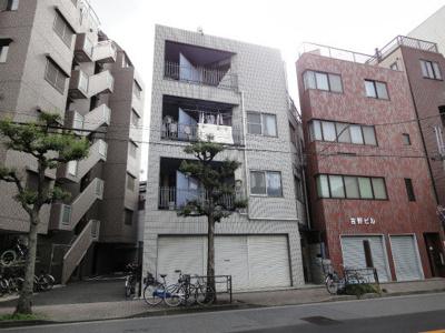 上野の賃貸物件。ハイツ隆 鉄骨造の外観タイル張りマンション!日暮里中央通り沿い!ワンフロア2世帯!