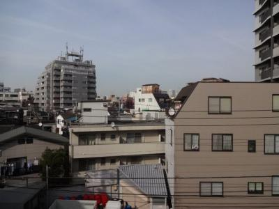 上野の賃貸物件。ハイツ隆 ベランダからの眺望