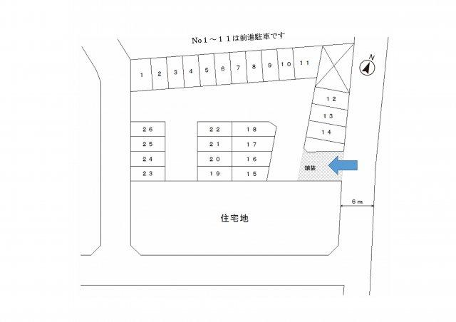 【区画図】40:矢島167駐車場