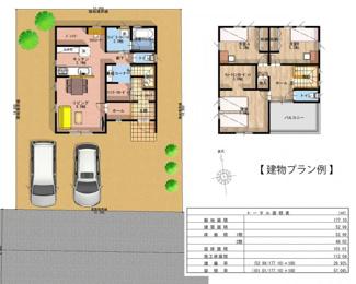1F:52.99㎡(約16坪)、2F:48.02㎡(約14坪)、延べ床面積:101.01㎡(約30坪)の3LDKの2階建ての建物プラン例です。