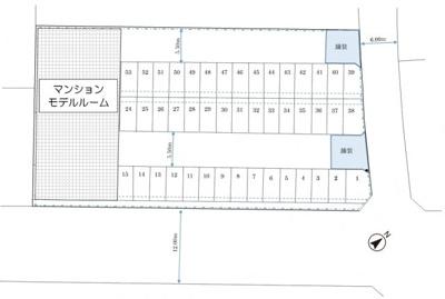 【区画図】根本170駐車場
