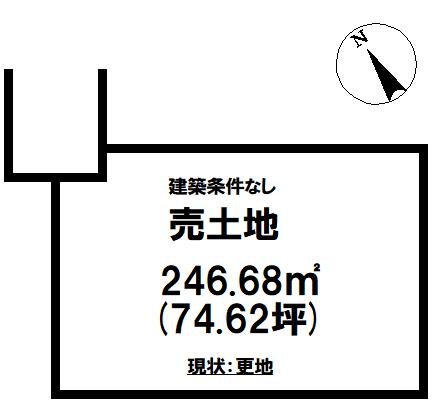 【土地図】勿来町酒井 売土地